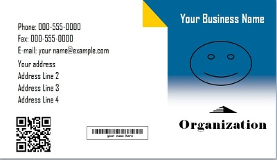 Design 2 Bussiness cards with qr,bar codes
