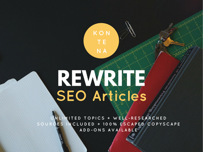 Rewrite an article 1500 words on any topic with informative & 99% copyscape escaped