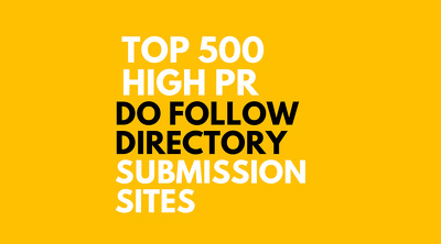 Do 500 Manual Directories  Submissions