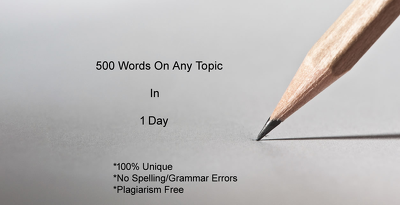 Write 500 words for any type of project