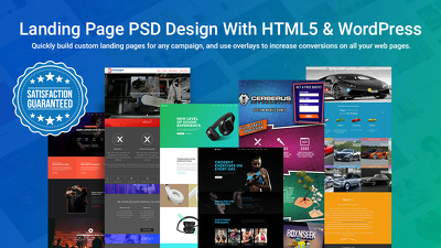 Offer Landing Page PSD design with HTML5 & WordPress