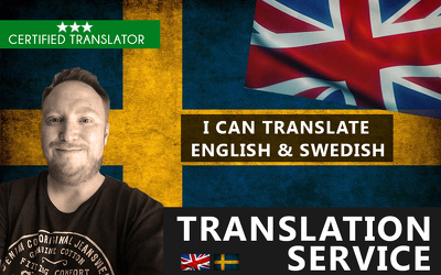 Translate your documents between English & Swedish
