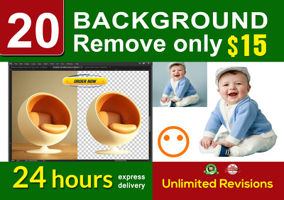 Remove 20 background  images  within 24 hours