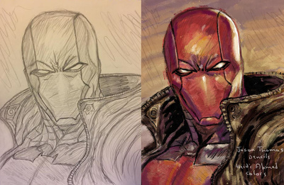 Color your drawing digitally