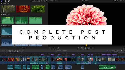 Edit edit your video completely from scratch - In House Post Production Suite.