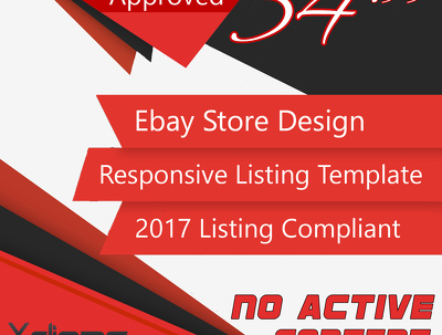 Ebay Store Design and Responsive Listing Template Plus Store Installation