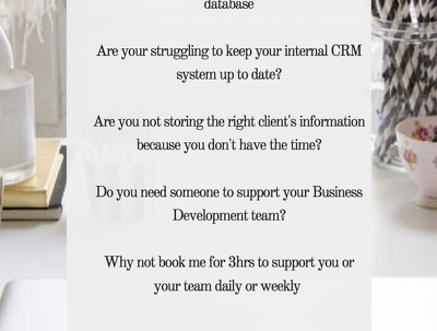 Update  and clean your CRM database ( 3 hrs )