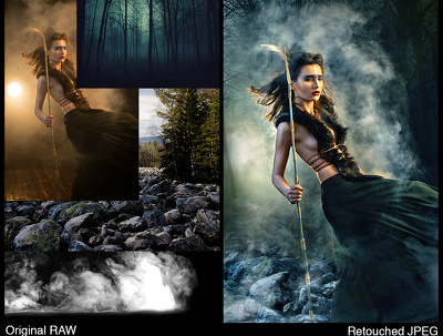 Photo manipulation, realistic or art retouch
