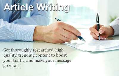 Write 4 unique and SEO friendly Articles and Blogs (500-600 words)