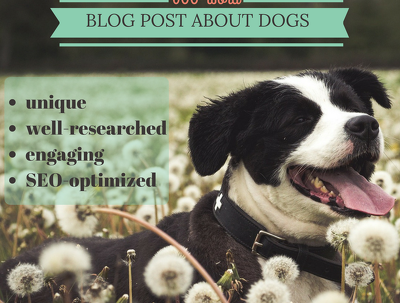 Write an engaging, thoroughly researched article or blog post about dogs