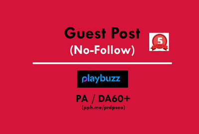 Write And Publish a Guest Post on Playbuzz / Playbuzz.com