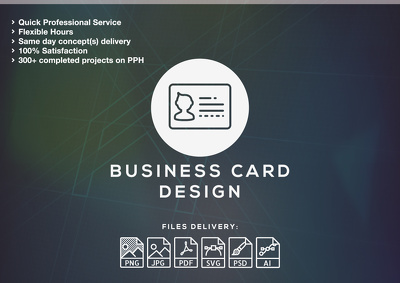 Design PROFESSIONAL print ready business card