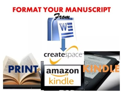 Format Or Convert Your Book To Kindle Or Createspace