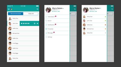 Create 2 mobile app screens design