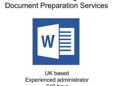 Complete an hour of word processing and document preparation