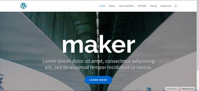 An amazing and super responsive wordpress portfolio site