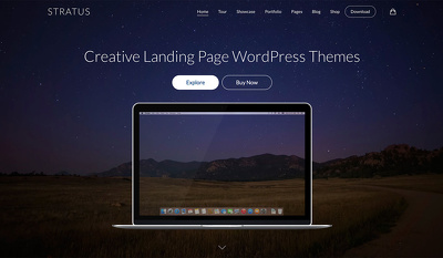 Design website homepage or landingpage