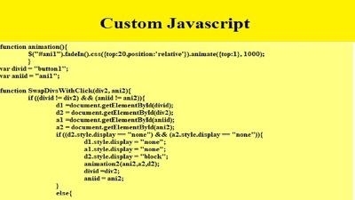 Write And Fix JavaScript, JQuery, Ajax, Json Script