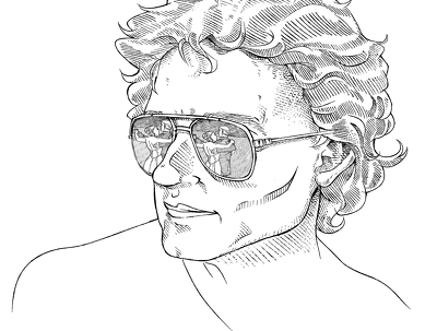 Illustrate Black and White Portrait