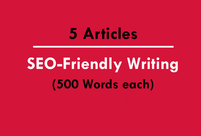 Write 5 SEO friendly Articles of 500 words (Copyscape)
