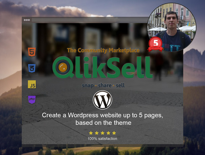 Create a Wordpress Website up to 5 pages, Based on the Theme