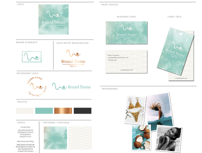 Design your BRANDING including the style guide