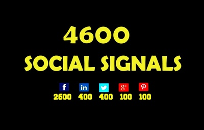 I Will Build 4600 Social Signal From Top Platforms
