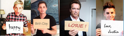 Make 20 celebrities show your message