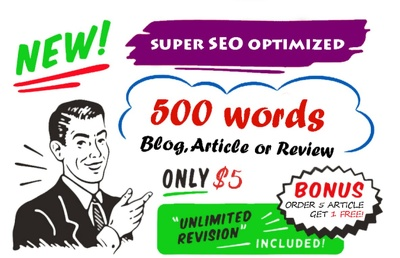 Write a 500 words SEO-optimised ARTICLE or BLOG POST