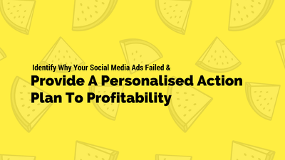 Identify Why Your Social Media Ads Failed & Provide An Action Plan To Profitability