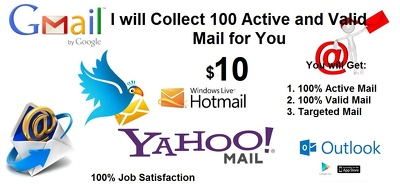 Collect 100 Active and Valid Mail Leads with Info