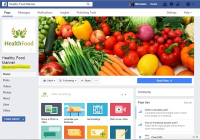 Make a facebook business page for you.