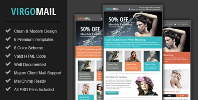 Design a HTML E-mail Campaign, HTML Newsletter or E-mail Template