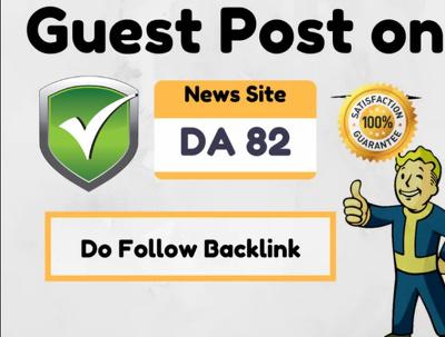 Do Guest Post On High Authority News Site DA 90