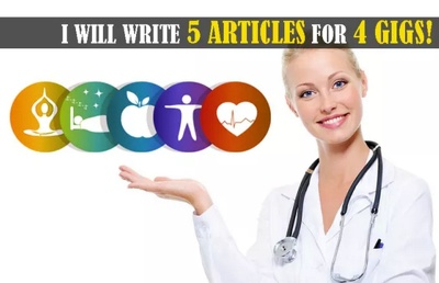Write 5x500 Word Medical And Health Articles for the price of 4