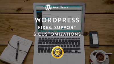 Provide 1 hour of Wordpress Fixes, Support, Design & Customizations