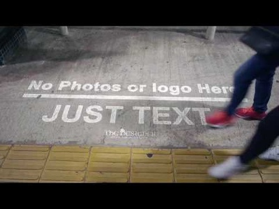 put your logo and text in this realistic billboard video