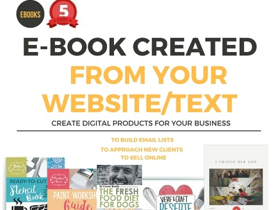 Create an e-book from your website or text
