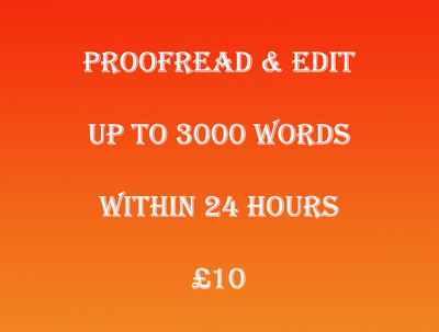 Proofread and edit up to 3000 words within 24 hours
