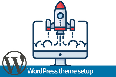 Install and configure WordPress and your theme on your hosting