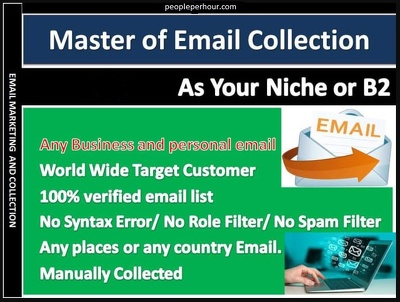 Provide you Collect Business or Targeted Email List