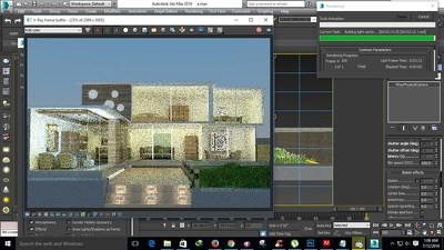 Create 3d model and render architecture project