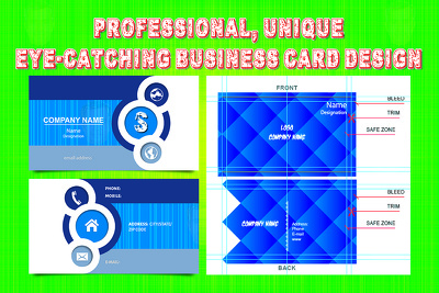 PROFESSIONAL, UNIQUE, EYE-CATCHING 2 side Business Card Design In 24 Hrs