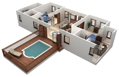 Create professional 3D floor plan / interior design