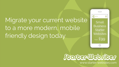 Create a small business starter website