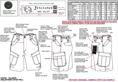 Create a garment tech pack for your design