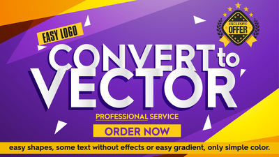 convert easy logo to vector