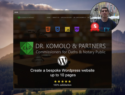 Create a bespoke Wordpress website Design based on specification in Adobe PS or XD