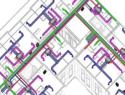 Model and coordinate for MEP design by Revit MEP