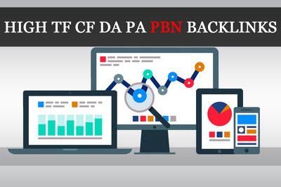 Build 5 Manual HIGH TF CF DA PA 30+ to 10 Dofollow PBN Backlinks